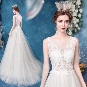 White wedding bridal dress gown RB2103