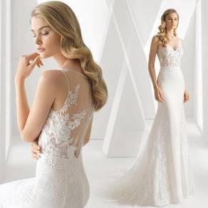 White prom wedding bridal dress gown RB2109