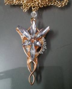 ABPGM-A001 Gold Arwen Evenstar Crystal Necklace
