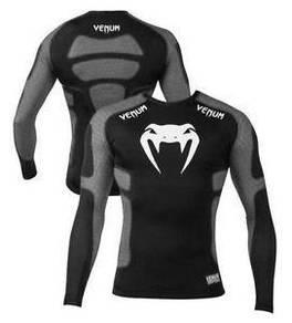 UFC MMA VENUM Compress Shirt Grey ( baju sports)