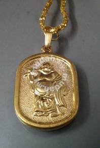 ABPGM-H002 Lucky Happy Buddha Gold Plated Necklace