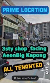 Kepong shop facing AeonBig prime location