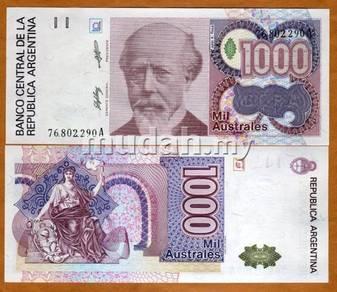 Argentina 1000 australes 1988-90 p 329 unc