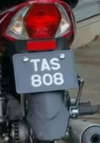 No. plat tas808