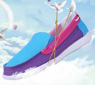 M0252 Blue Purple Pink Slip On Loafer Casual Shoes