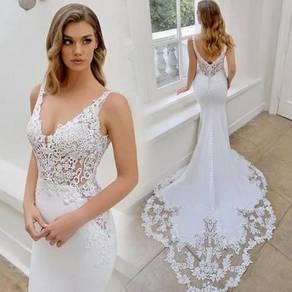 White prom wedding bridal dress gown RB2108