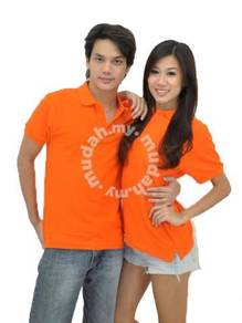 Orange Polo T-Shirt T Shirt Cotton Kosong Plain