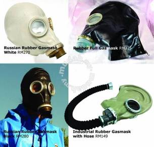 Russian Rubber Gas Mask and Tube