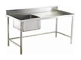 Stainless steel 1 bowl sink table 4 feet