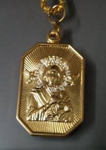 ABPGM-S001 Gold Plated Pendant Necklace - St Mary