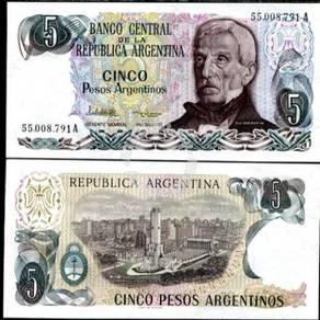 Argentina 5 pesos p 312 unc