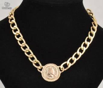 ABPGM-F001 Golden Fashion Link ID Face Necklace