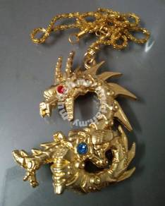 ABPGM-D006 Gold Dragon Solid Type Pendant Necklace