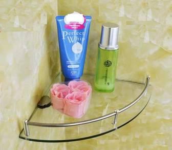 Bathroom glass rack T104 / rak kaca bilik mandi