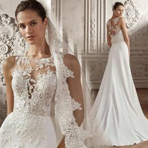 White evening wedding bridal dress gown RB2107