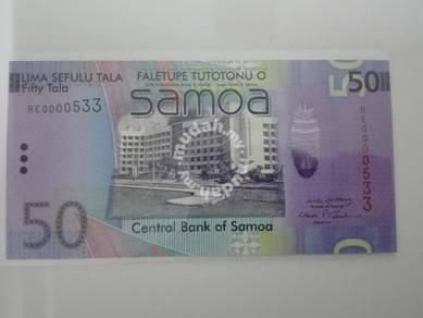 (BN 0132) 2008 Samoa 50 Tala, 1st Prefix S/N 533