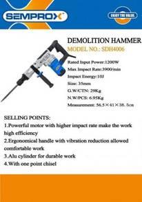 Semprox sdh4006 1200w heavy duty demolition hammer