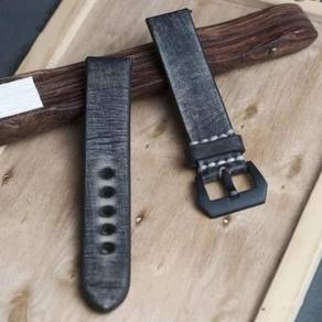 STRAPSCO Blue Distressed Leather Watch Strap