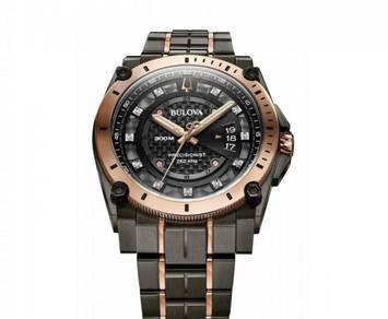 Bulova Precisionist Diamond Gunmetal 300m Watch
