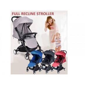 Full recline stroller