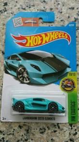 HotWheels Lamborghini Sesto Elemento blue