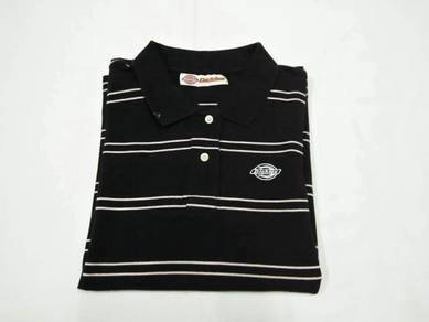 Dickies Ladies Black Stripe Polo M (Kod TS3312)