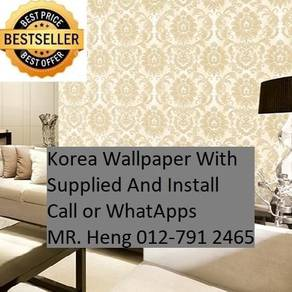 Pretty Wallcovering with Installation 278PT