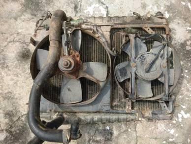 Full copper brass Radiator car fan kereta DIY