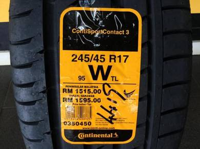 Tyre Continental CSC3 MO 245 45 17