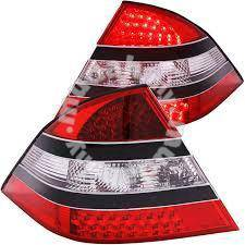 Benz w220 tail lamp led with black garnish