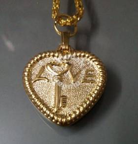 ABPGM-L001 GoldPlated Heart Shape Pendant Necklace