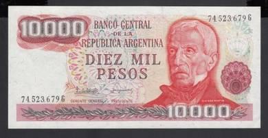 Argentina 10000 Pesos 1976-83 UNC