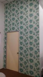 PASANGKAN WALLPAPER SAHAJA l install wallpaper