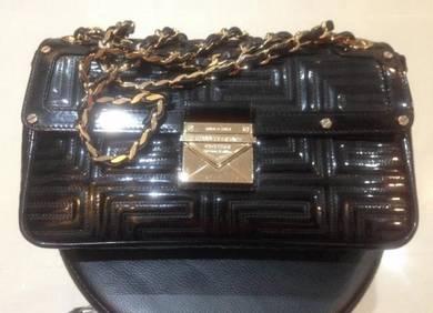 Versace leather sling bag handbag beg tangan