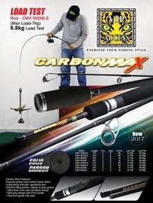 Carbon Max Solid Carbon Fishing Rod Joran Pancing