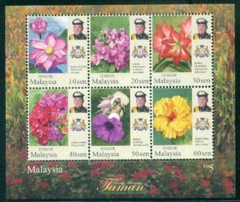 Miniature Sheet Definitive Johor Malaysia 2016
