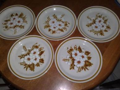 Pinggan vintage mountain wood collection plate 10
