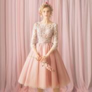 Pink prom wedding bridal dress gown RBP1506