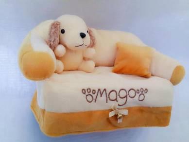 Cutie Plush Puppy Tissue Box Cover