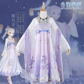 Purple cosplay costume dress medieval RB0436
