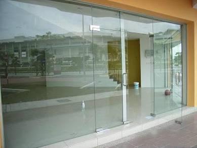 Tempered glass door & partition Decoration Work