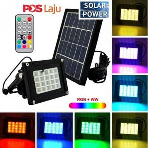 Solar 20 Led RGB color Remote control FloodLight