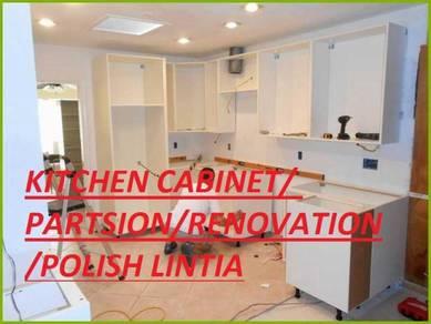 Kichant cabinet & Polish Marble Parquet Cat