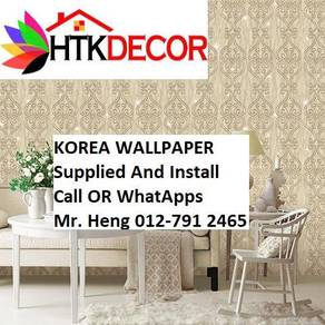 Wall paper Install at Living Space YW838