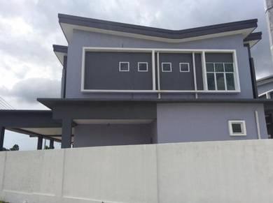 Large Semi-D House at Jalan Oya Sibu