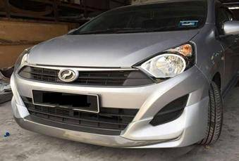 Perodua axia mugen bodykit with spoiler and paint