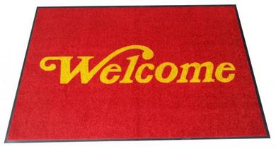 Welcome Dust Control Mat Wet and Dry