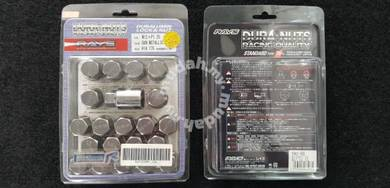 RAYS DURA NUT METALLIC 35MM M12xP1.25 ORI JAPAN