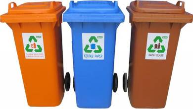 Recycle waste bin 120l - complete set