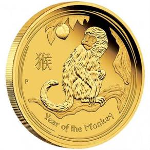 Lunar sii 2016 monkey 1/4 oz gold proof coins